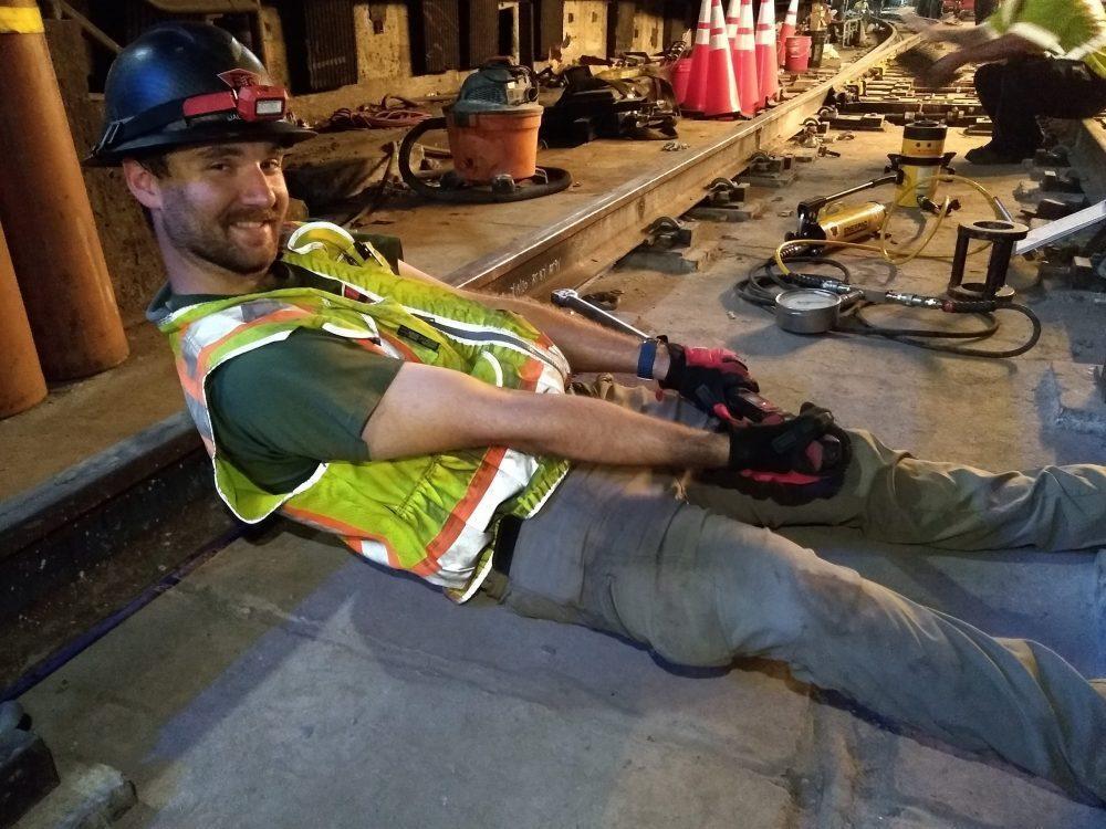 jack torque testing in baltimore metro station