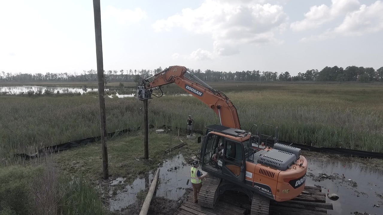 Pile Driving Project in Southern Maryland